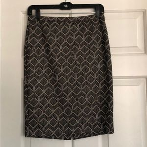 Embroidered Pencil Skirt Size 2